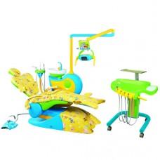 Детская стоматологическая установка QL-2028 CD с блоком врача в виде подкатного модуля