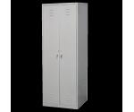 Шкаф для одежды металлический двухстворчатый с двумя отделениями на заклепках 800х500х1790
