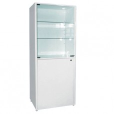 Шкаф металлический двухсекционный, одностворчатый