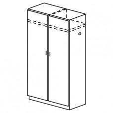 Шкаф двухстворчатый для одежды с двумя отделениями