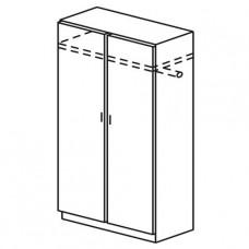 Шкаф двухстворчатый для одежды с полкой для головных уборов