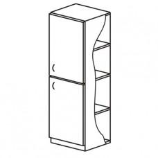 Шкаф для белья, одностворчатый с двумя отделениями