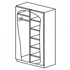 Шкаф для одежды и белья двухстворчатый с двумя отделениями