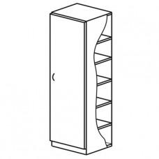 Шкаф для одежды одностворчатый, с полкой для головных уборов и перекладиной для вешалок