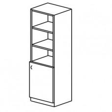 Шкаф книжный одностворчатый с верхними открытыми полками