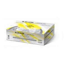 Dr.Klauss powder free перчатки медицинские латексные смотровые неопудренные текстурированные