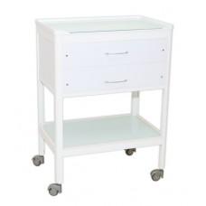 Стол врача (поверхность - стекло, 2 ящика)